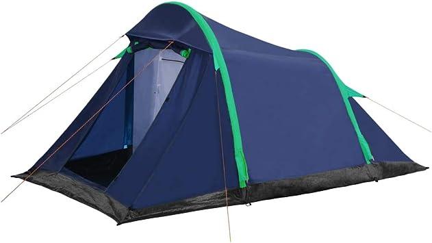 vidaXL Tienda de Campaña Artículos y Complementos Exterior Jardín Aire Libre Acampada Senderismo Camping con Vigas Hinchables 320x170x150/110 cm