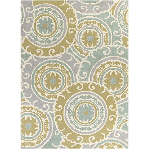 Cosmopolitan Sage Green (Surya COS9272-811 Cosmopolitan Green Area Rug, 8' x 11', Tan/Medium Gray/Sage/Khaki)