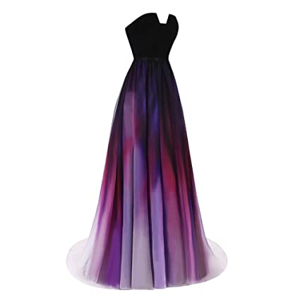 Aprilbridal Womens Gradient Chiffon Beach Prom Dresses Long Ombre Maix Evening Gowns: Amazon.co.uk: Clothing