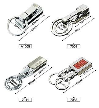 A1005 7011 BOYOU Classic Attachable Key Chain Durable Multi-Ring Key Holder Smart Keychain Male Belt Lock Key Ring
