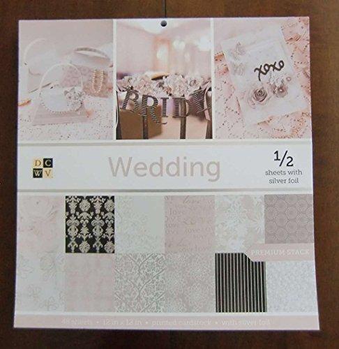 DCWV WEDDING Premium Stack 48 Sheets of 12 x 12 Printed Cardstock ()