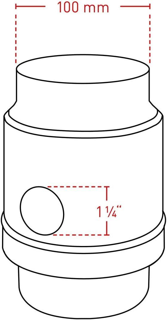 Regenwassersammler-Set Titanzink /Überlaufschutz 100 mm /Ø 3tlg