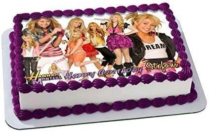 Peachy Amazon Com Hannah Montana Edible Cake Topper Personalized Birthday Cards Printable Inklcafe Filternl