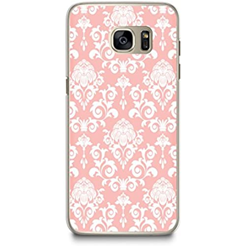 Case for Samsung S7, CasesByLorraine Damask Peach Pink Elegant Vintage Pattern Case Plastic Hard Cover for Samsung Sales