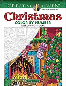 creative haven christmas color by number creative haven coloring books