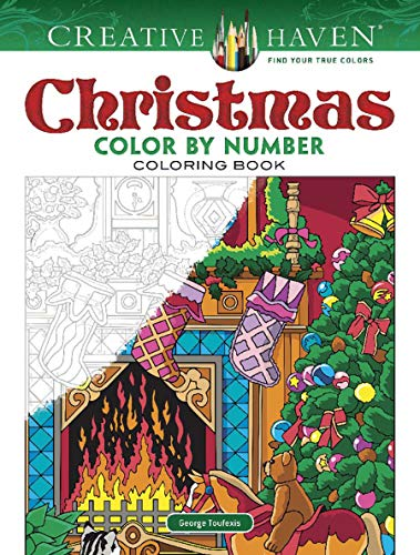 New Used Books Creative Haven Christmas Color By Number Creative