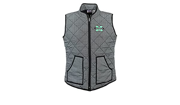 Nitro USA Quilted Herringbone Print Vest with Embroidered M-Marshall bar Logo