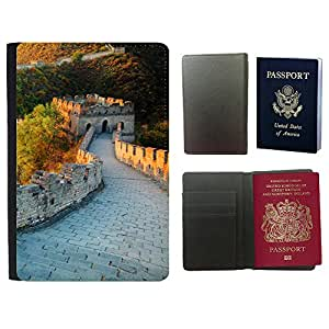 Passeport Voyage Couverture Protector // V00002689 Gran Muralla de China // Universal passport leather cover