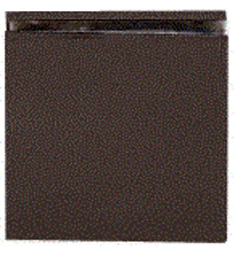 C.R. LAURENCE SCU40RB CRL Oil Rubbed Bronze Square Style Hole-in-Glass Fixed Panel U-Clamp