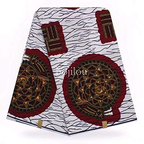 (Fabric African  100% Cotton Guaranteed Real Dutch Wax Block Prints Hollands veritable African Wax Prints Fabric New hollandais ASO EBI by)