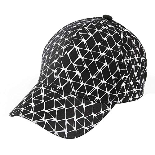 (LFLWO New Brand Black White Color Plaid Print Baseball Caps Gorras Beisball Casquette Dad Hats for Womens)