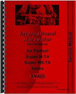 Farmall Super MTA Tractor Service Manual: Amazon.com: Books