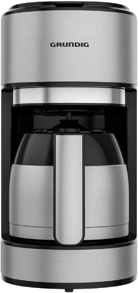 Grundig Cafeti/ère avec verseuse isotherme et puissant 1000 W en acier inoxydable