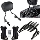 BBUT Black Detachable Passenger Backrest Sissy Bar With Stealth...
