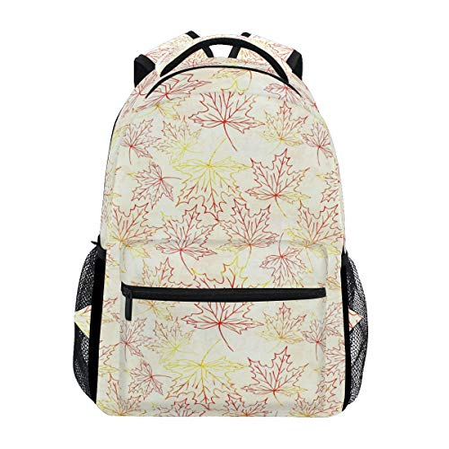 (Large Travel Outdoor Sports Laptop Backpack Water Resistant for Women & Men College School Gold Maple Leafs Bobblehead)
