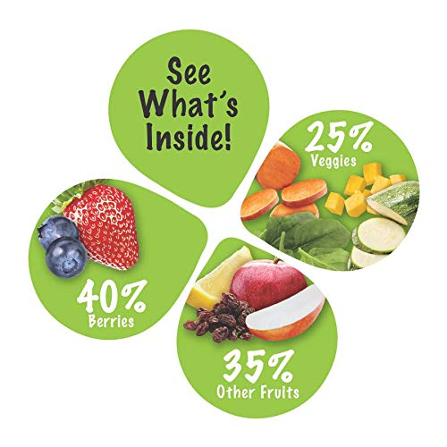Sprout Organic SMASH Snack Pouches Fruit and Vegetable Puree, Berry Blast, 3.2 Ounce, 16 Count by Sprout (Image #3)