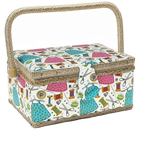 Best Review Of KOVOT Sewing Basket Organizer Set | Includes Folding Carry Handle, Insert Tray & Misc...