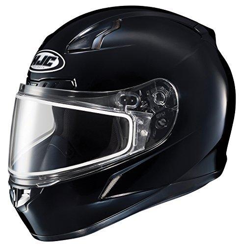 HJC CL-17SN Solid Full Face Snow Helmet Frameless Dual Lens Shield (Black, 4X-Large)