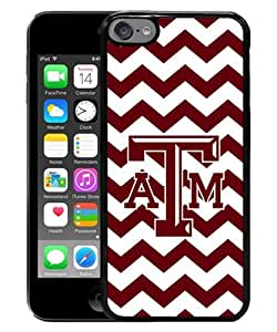Fashionable iPod 6 Case,NCAA Texas A&M Aggies 02 Black Customized Case For iPod Touch 6 Case