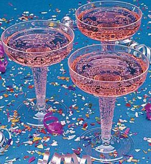 20 Clear Plastic Champagne Glasses