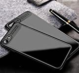 WYHYDCG iPhone Case - 2 in 1 Phone Case,Transparent Clear Slim Protective Scratch Resistant Color Contrast Silicone phone shell for Apple iPhone , black