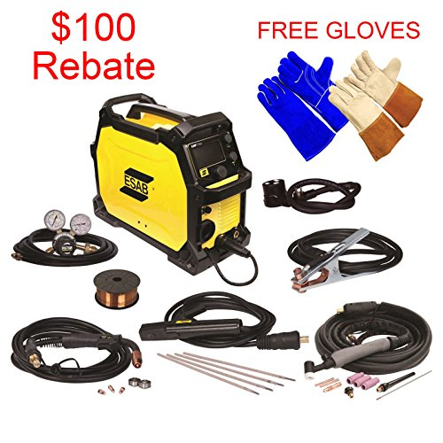 Welder Glove Mig Tig (ESAB Rebel EMP 215ic MIG/Stick/Tig Welding Machine - FREE TIG & WELDING GLOVES)