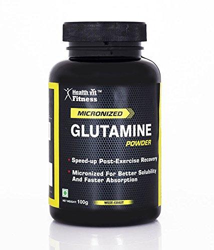Healthvit Fitness Micronized Glutamine Powder – 100 g (Unflavored)