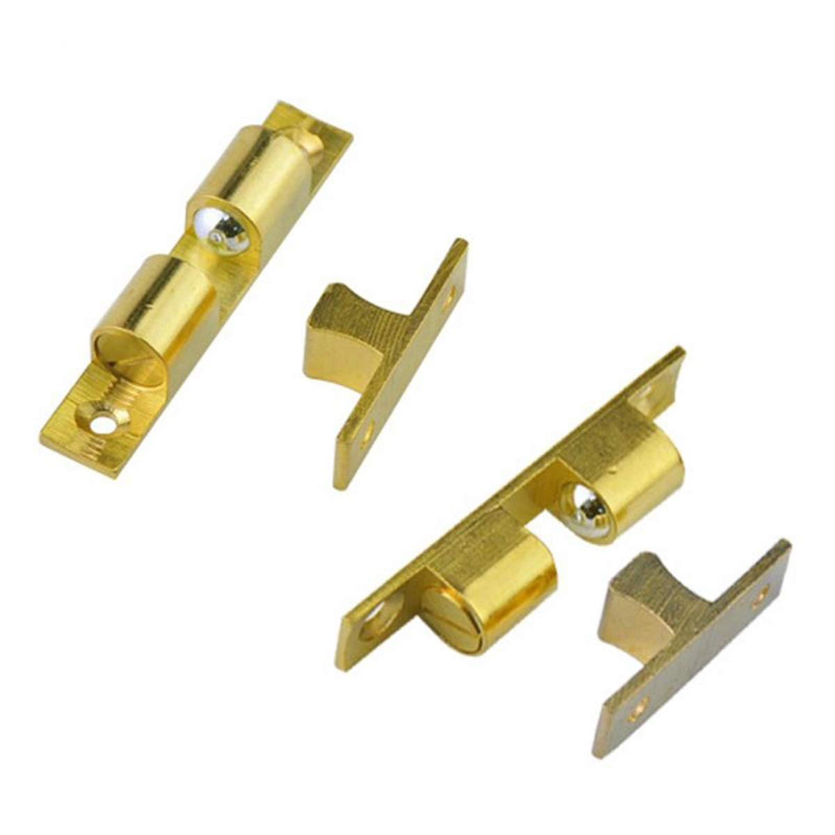 Size : 42mm Solid Brass Double Ball Catch Hardware Cabinet Cupboard Home Door Latch