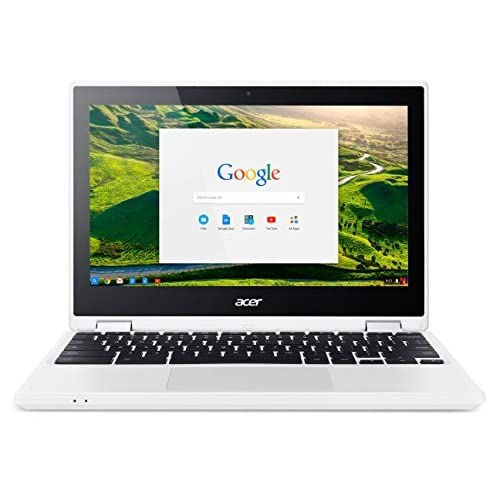 """Acer Chromebook CB5-132T-C8VM Ordinateur 2-en-1 Tactile 11"""" HD Blanc (Intel Celeron, 4 Go de RAM, Mémoire 32 Go, Intel HD Graphics, Chrome OS)"""