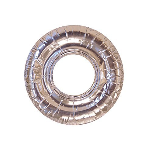 (40 Pc Aluminum Foil Round Gas Burner Bib Oven Liners Covers 7.5