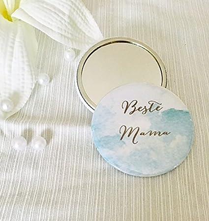 Mano Espejo Espejo de bolso Button mejor mamá, regalo ideal ...