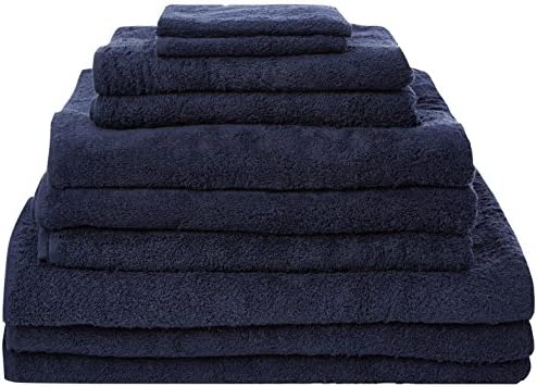 Highams 100% algodón Egipcio 10 Piezas Juego de Toalla de Azul ...