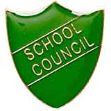School Council Shield Badge Green SB011G by Trophy