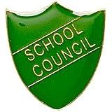 School Council Shield Badge Green SB011G by Trophy