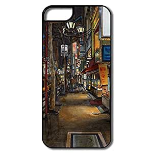 IPhone 5/5s Cases Painting Street Design Hard Back Cover Proctector Desgined By RRG2G