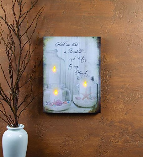 (Ohio Wholesale, Lighted Seashells Jar Candles Canvas)