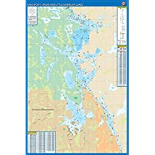 Sand Point, Crane, and Little Vermilion Lakes Fishing Map, Minnesota