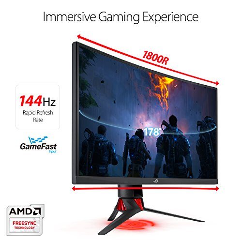 ASUS Strix Curved HD 144Hz HDMI DVI Fully Adjustable Function w/ leading 3