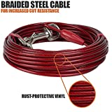 BV Pet Tie Out Cable for Dogs Up to 90/125