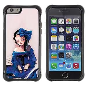 Suave TPU GEL Carcasa Funda Silicona Blando Estuche Caso de protección (para) Apple Iphone 6 / CECELL Phone case / / Cute Sad Girl /