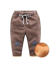 Mud Kingdom Kids' Super Warm Star Fleece Pants