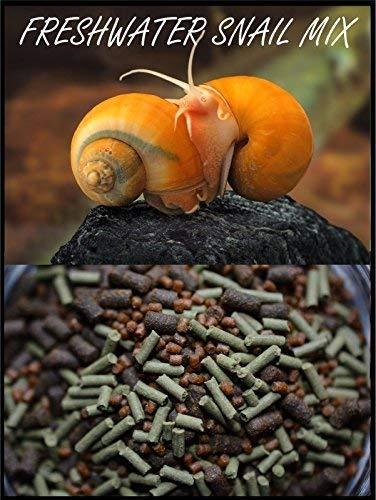 S&C AQUATICS Super Freshwater Snail Mix - Snail,Shrimp,Fish & Crayfish Food - ABF1 (32oz - 2 LBS.) by S&C AQUATICS