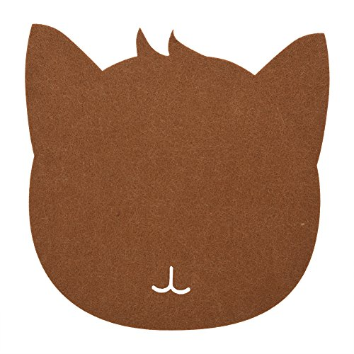 Price comparison product image GLOGLOW Cat-Shape Anti-static Felts Table Mouse Pad, Durable Office Dust-proof Desk Pads Not Easy to Damage for Computer Laptop(Coffee)