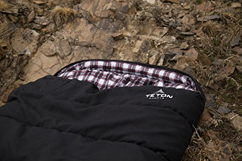 Teton Sports Outfitter XXL Sleeping Bag Warm And Comfortable Sleeping Bag Great For Fishing Hunting And Camping Great For When Its Cold Outdoors Storage Duffle Bag Included
