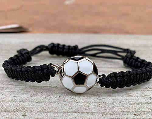 Soccer Bracelet, Soccer Jewelry, Adjustable Unisex Soccer Paracord Bracelets - Soccer Gifts -