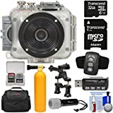 Intova Connex 1080p HD Waterproof Video Action Camera Camcorder (200 ft/ 60m) Remote + 32GB Card + Case + LED Flashlight Torch + Floating Buoy Mount + Kit