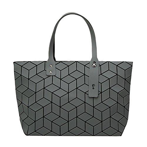 Bag Lingge Matte Bag And Handbag Folding Wife Fashion Geometry OEnqdwO4