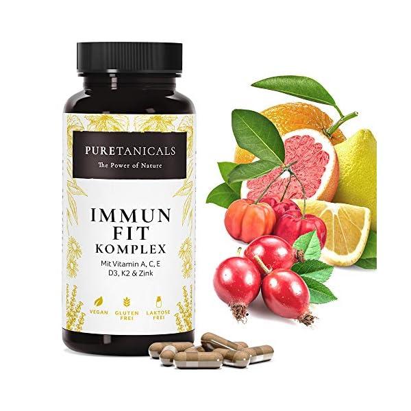 Multivitamines Complex: A C E D3 K2 + Zinc | Complément Alimentaire: Vitamines Minéraux, Formule Fortifiante pour…