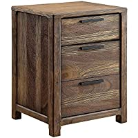 Furniture of America CM7576N Hankinson Rustic Natural Tone Nightstand