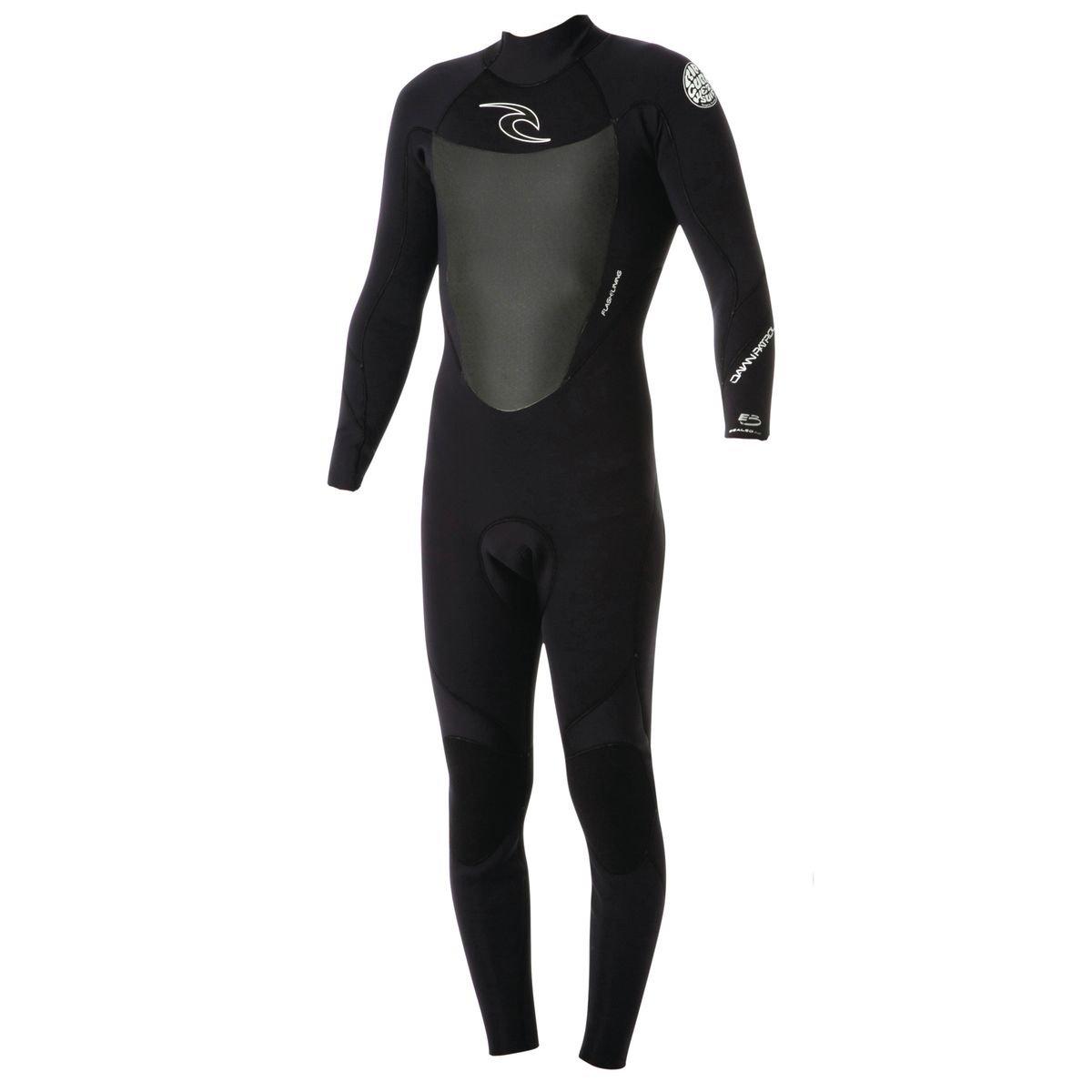 RipCurl Dawn Patrol 3/2mm GBS Back-Zip Steamer Wetsuit BLACK